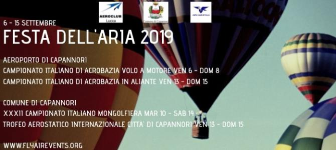 Festa dell'Aria 2019: SAVE THE DATE!