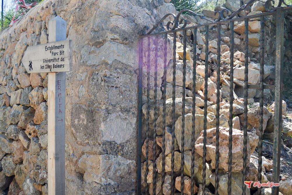 donde empieza la ruta a la ermita de Maristella