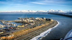 The end of the Homer Spit, Alaska.