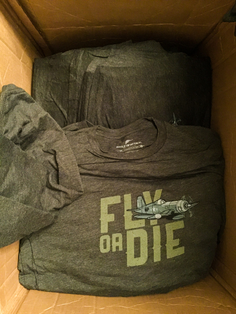 It looks like it's a lot, but 125 shirts will go fast.