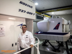 Jason Sokoloff enjoying a tour of the Delta Training Facility
