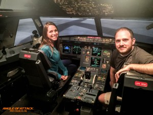 Chelsea did a great job landing this A320 sim- no joke!