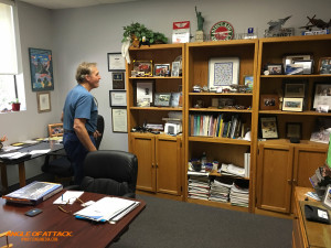 Michael Phillips' Office- a tribute to his aviation history