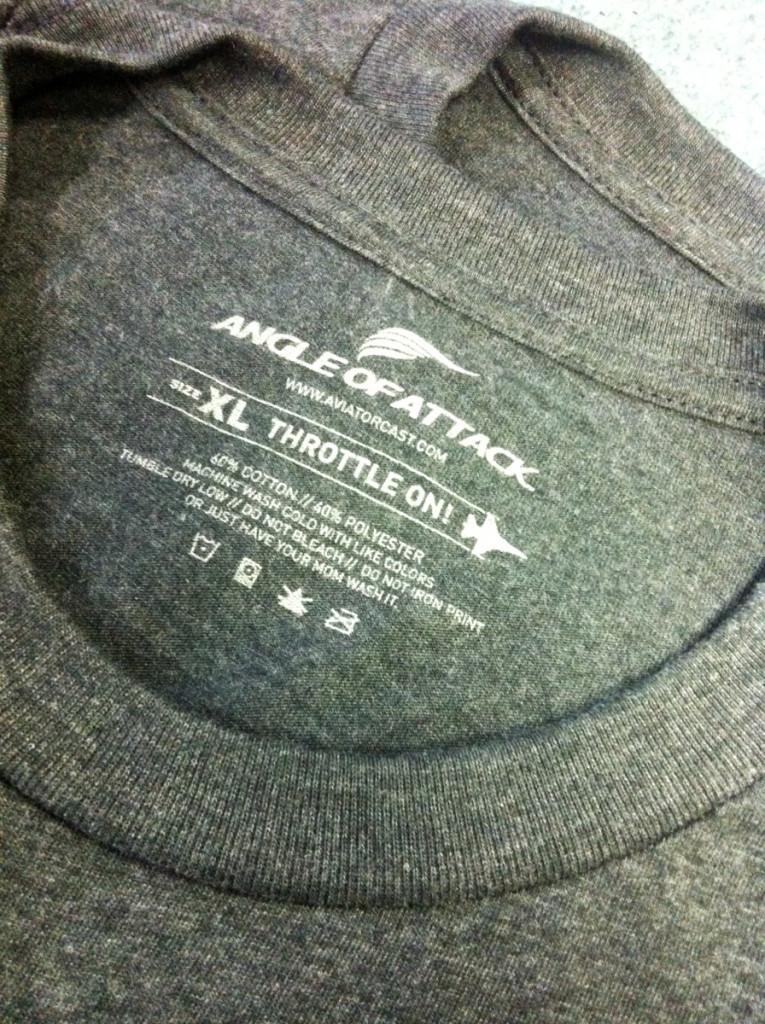 Customized Label. Notice the washing instructions?