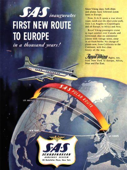 SAS vintage poster