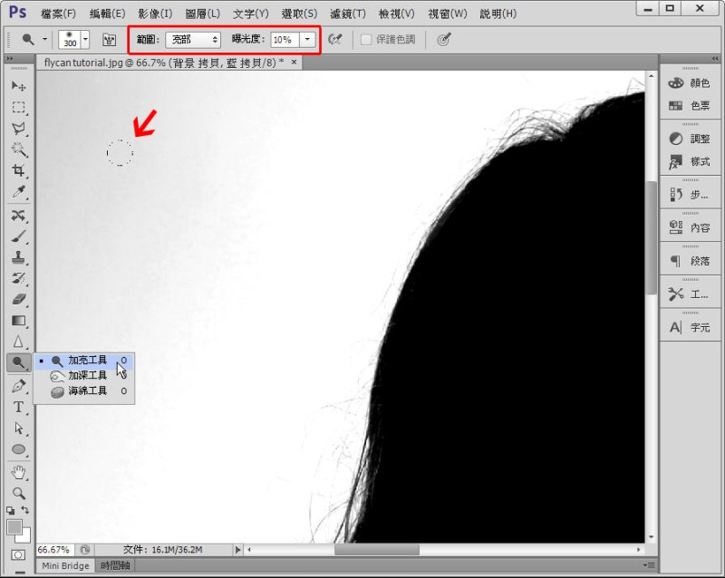 Photoshop 影像設計  - Photoshop 教學 - 色版去背 - 頭髮去背 - 標準教學 - fly-09-1