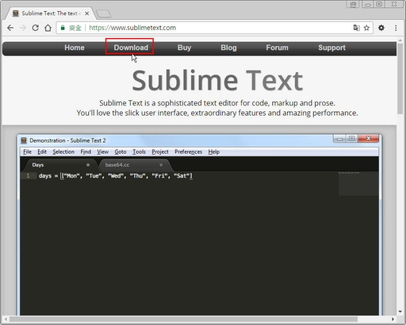 CSS 教學 - 網頁排版 Dreamweaver 網頁設計 Free Resource 好康報報 JavaScript 程式設計 RWD 響應式網頁  - 教學:Sublime Text 的安裝設定及入門操作 - [ 上篇 ] - sub-01