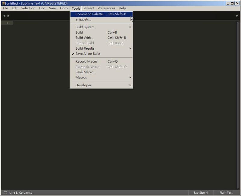 CSS 教學 - 網頁排版 Dreamweaver 網頁設計 Free Resource 好康報報 JavaScript 程式設計 RWD 響應式網頁  - 教學:Sublime Text 的安裝設定及入門操作 - [ 上篇 ] - sub-10