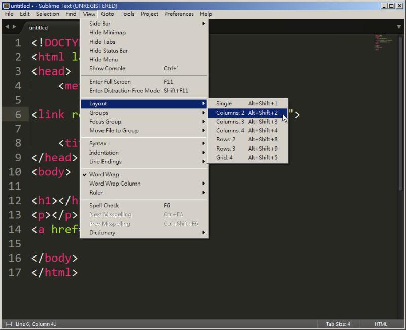 CSS 教學 - 網頁排版 Dreamweaver 網頁設計 Free Resource 好康報報 JavaScript 程式設計 RWD 響應式網頁  - 教學:Sublime Text 的安裝設定及入門操作 – [ 下篇 ] - sub-28
