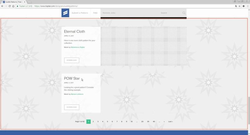 清單模式-網頁套用該背景圖樣