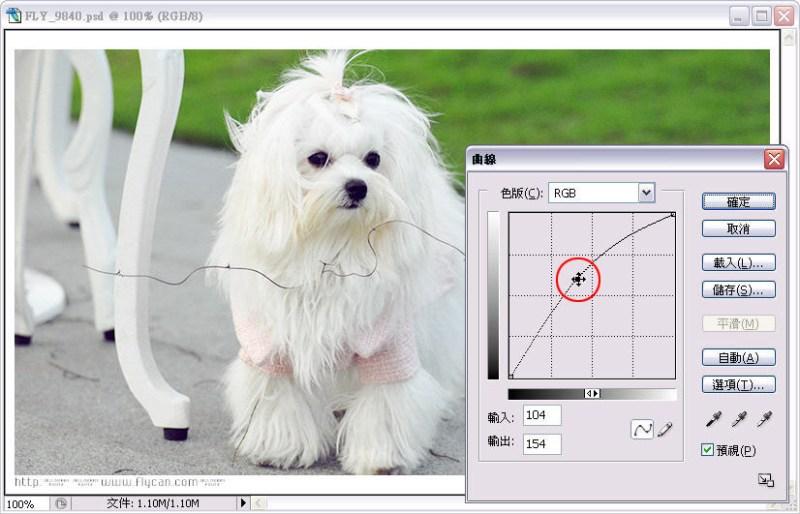 Photoshop 影像設計 Photoshop 後製修圖  - Photoshop 教學 - 曲線 - 亮度調整 - 入門篇【一】 - curve_06_872