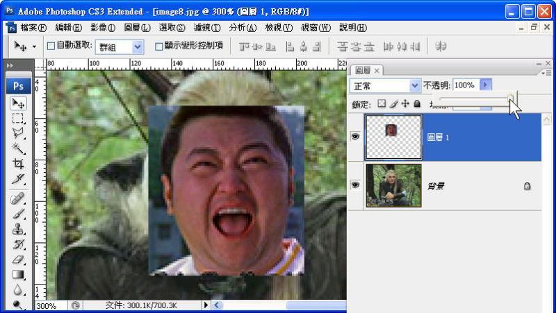 Photoshop 影像設計  - Photoshop 遮色片教學 - 移花接木 - 合成變臉 - face_off_05
