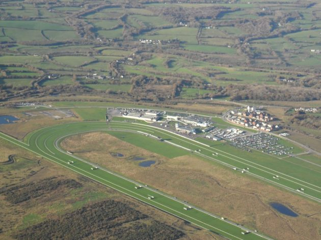 Ffos Las Racecourse, northwest of Swansea