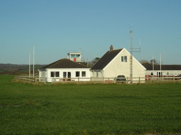 Pembery Aiport buildings with control tower in the background
