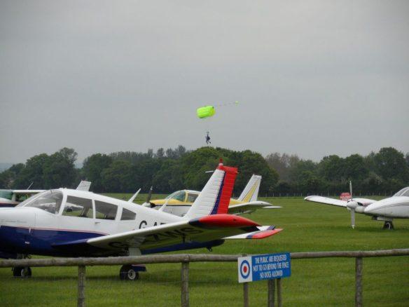 Arrow at Headcorn with parachuting in progress