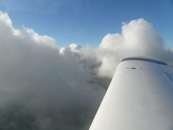 Descending into the cloud layer