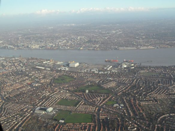 Looking north towards Liverpool