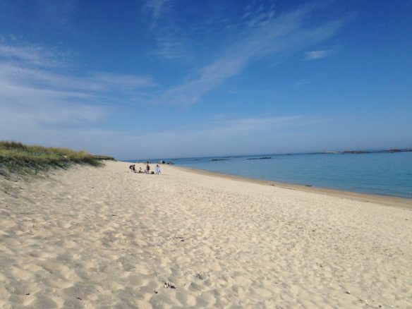 Herm Shell beach - not so many shells left on it now
