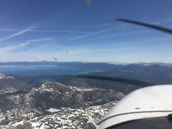 Lake Tahoe comes into view
