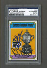 Bob Clarke  Bill Barber signed Flyers 1974 Trophy hockey card Psa