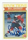 Bill Barber Signed 1982 83 O Pee Chee In Action Card