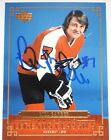 BILL BARBER SIGNED UPPER DECK LEGENDS CLASSICS FLYERS CARD AUTOGRAPH AUTO