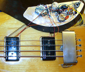 Gibson Ripper Bass Guitar wiring diagram and photographs