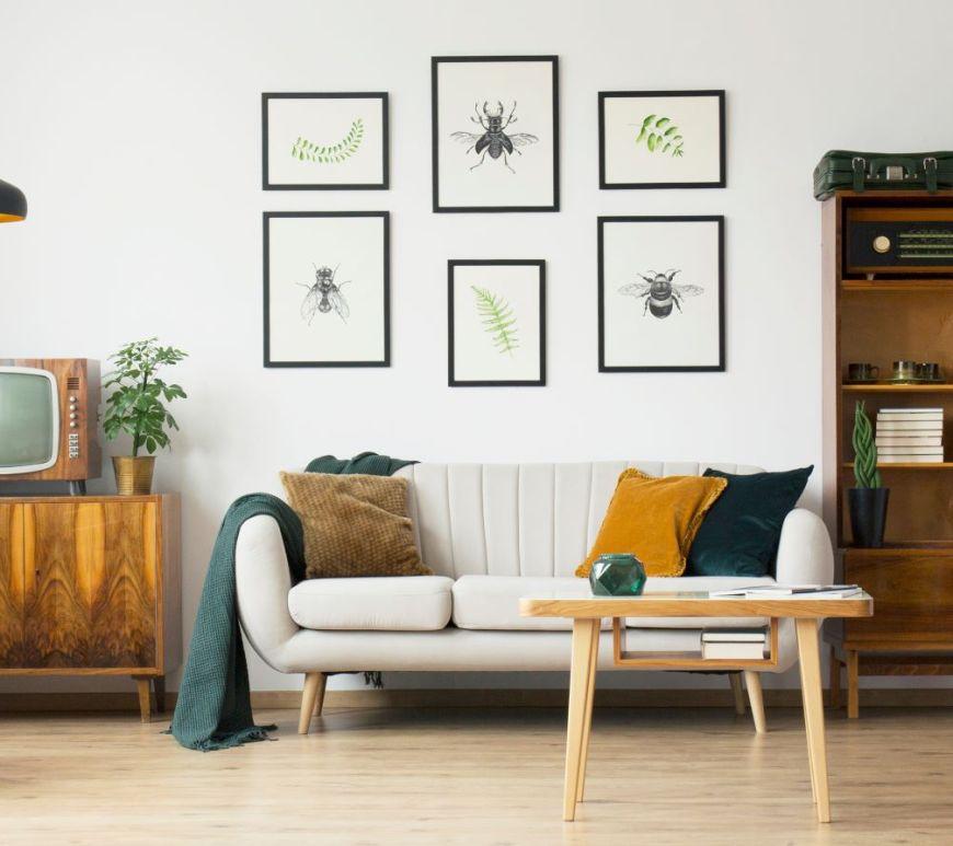 retro-style living room