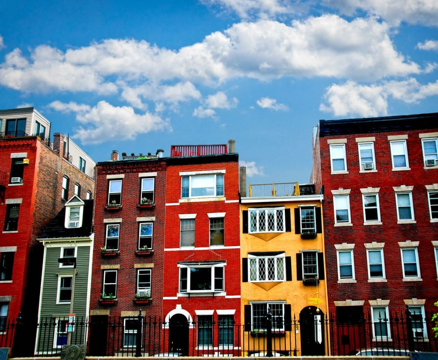 Historical homes in Boston's north end