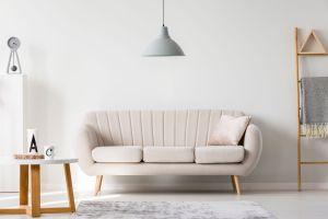 round sofa warm minimalism