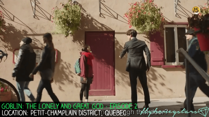 goblin drama location Petit-Champlain District red door 1