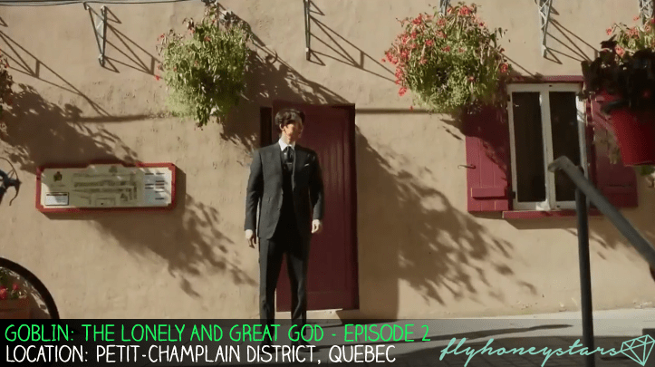 goblin drama location Petit-Champlain District red door
