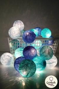 guirlande boules turquoise