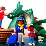 Un château, une hôtesse de l'air, des Princes et un dragon (+cadeau Prince Playmobil!)
