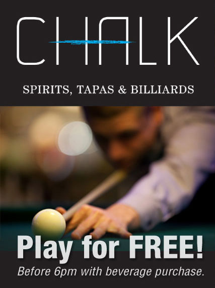 Chalk Billiards Courtenay BC Free Pool before 6