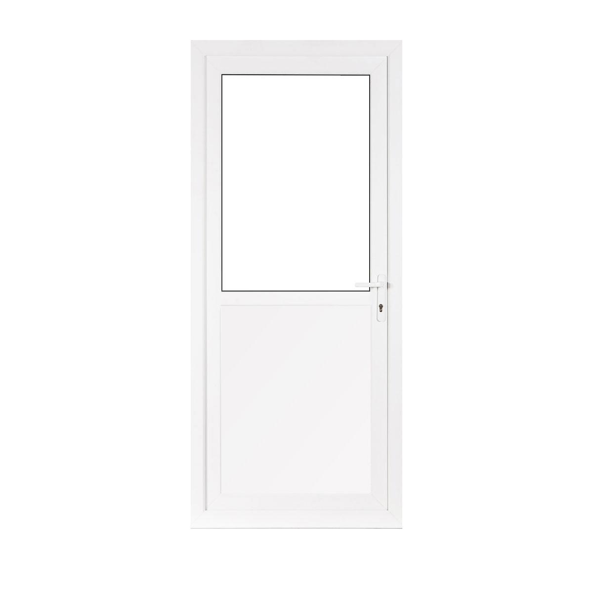 small half glass upvc back door