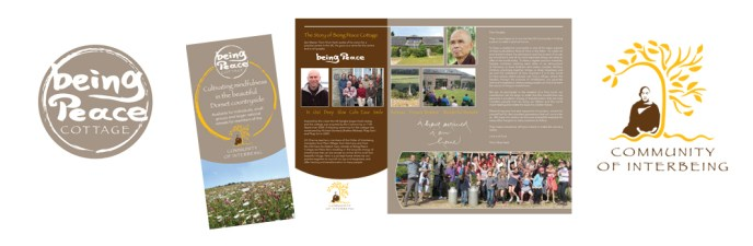 Being Peace logo and leaflet