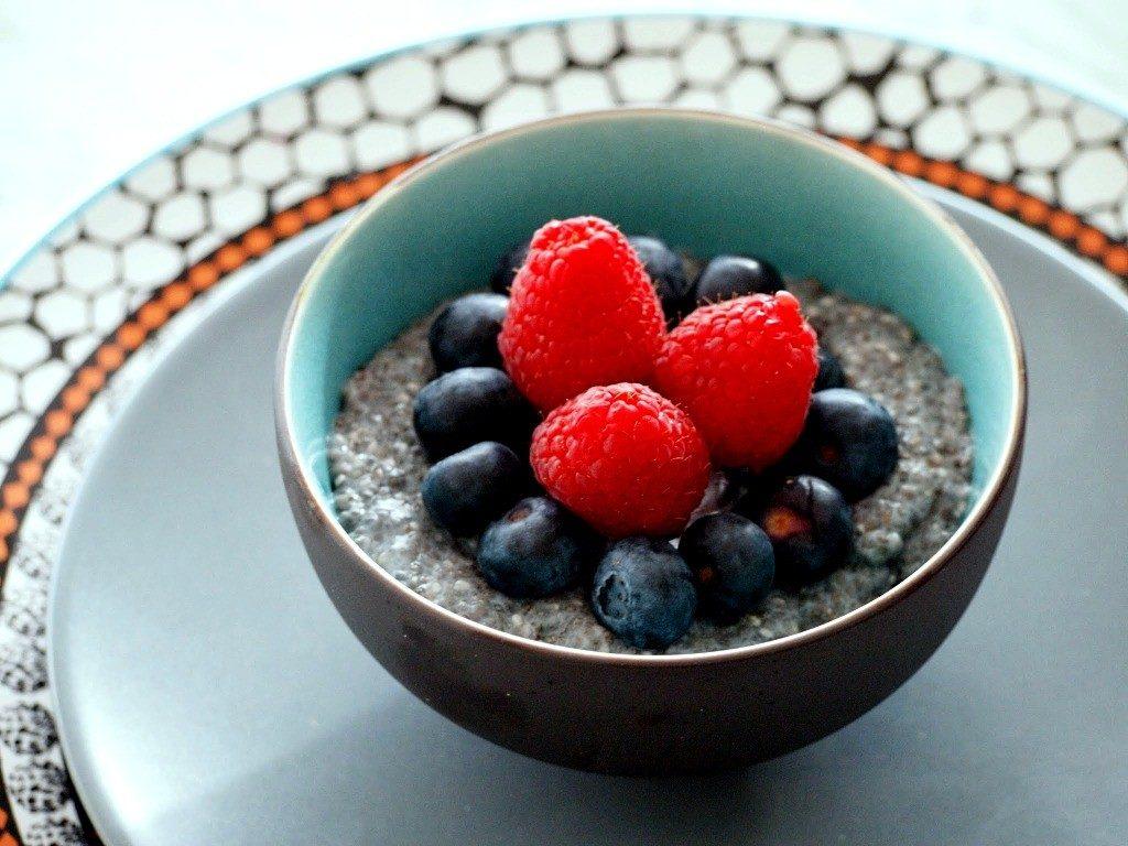 Chia Zaad pudding gezond ontbijt suikervrij