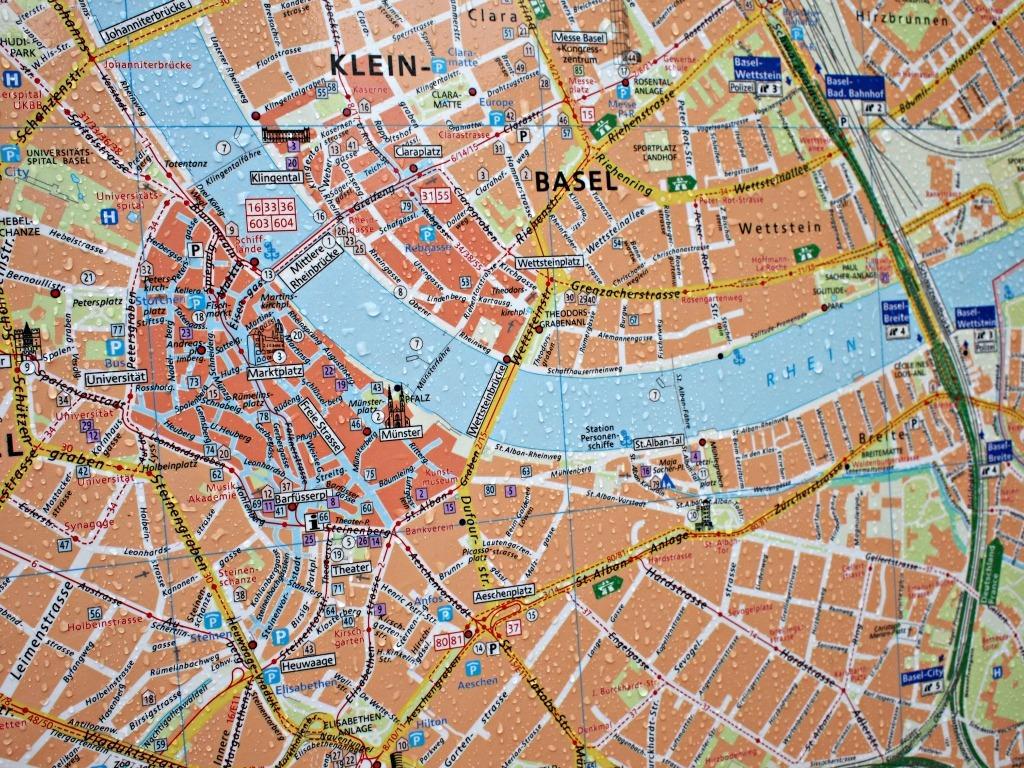 Reisverslag Basel Kaart van Basel Bazel