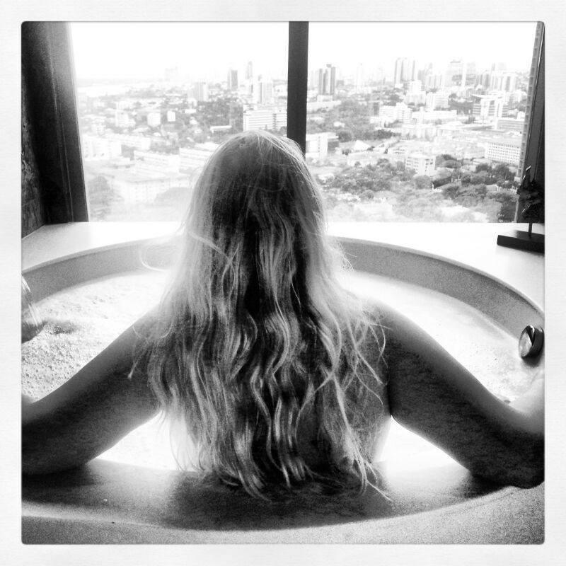 So Sofitel Bangkok view from the bath