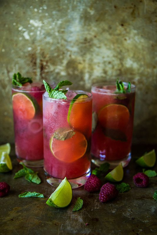 Frambozen Mojito Cocktail Pinterest