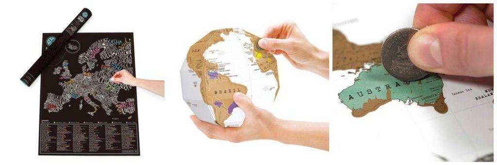 Cadeautip reisliefhebber kras wereldkaart