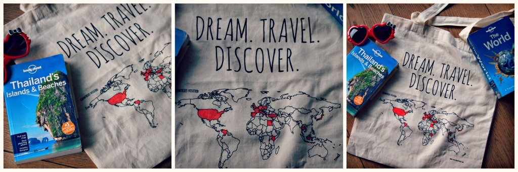 canvas tas wereld reizigerig cadeau tip