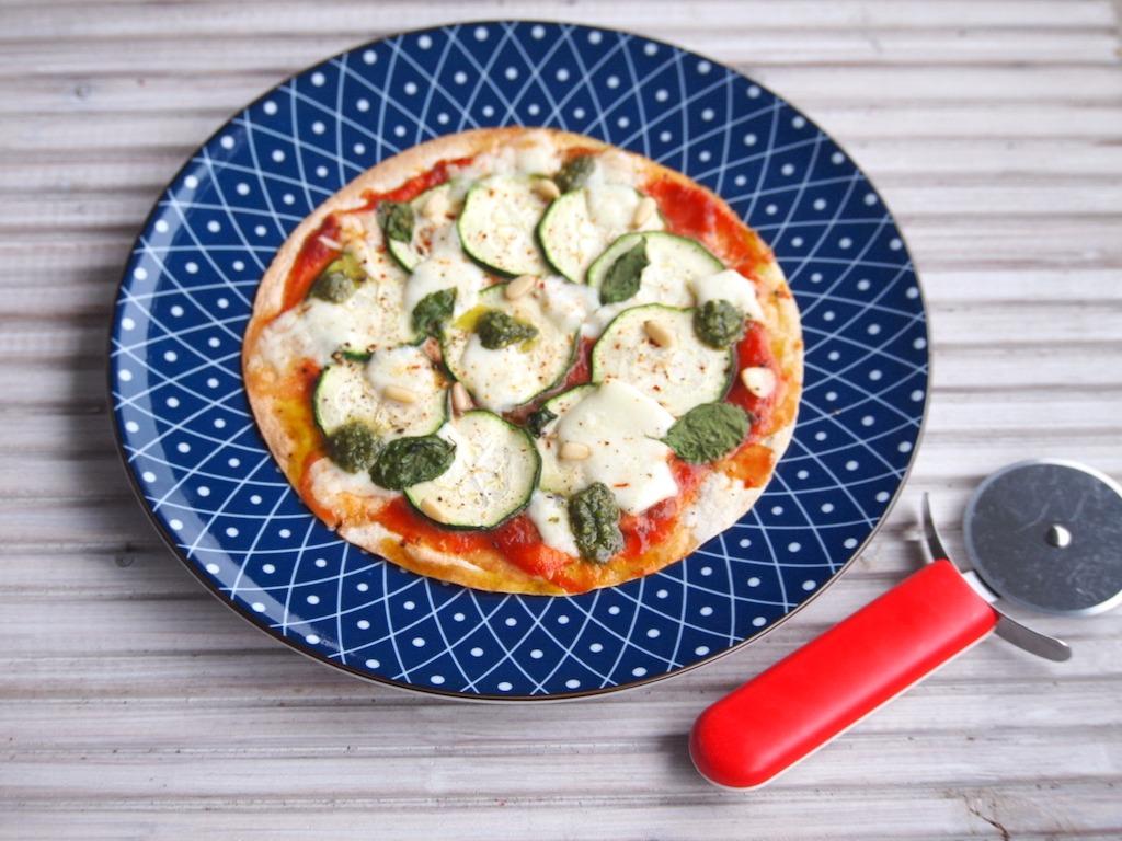Snelle pizza met wraps als bodem