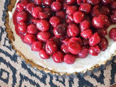 Recept monchou taart met kersen no bake