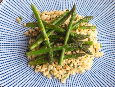 Tarly risotto met groene asperges