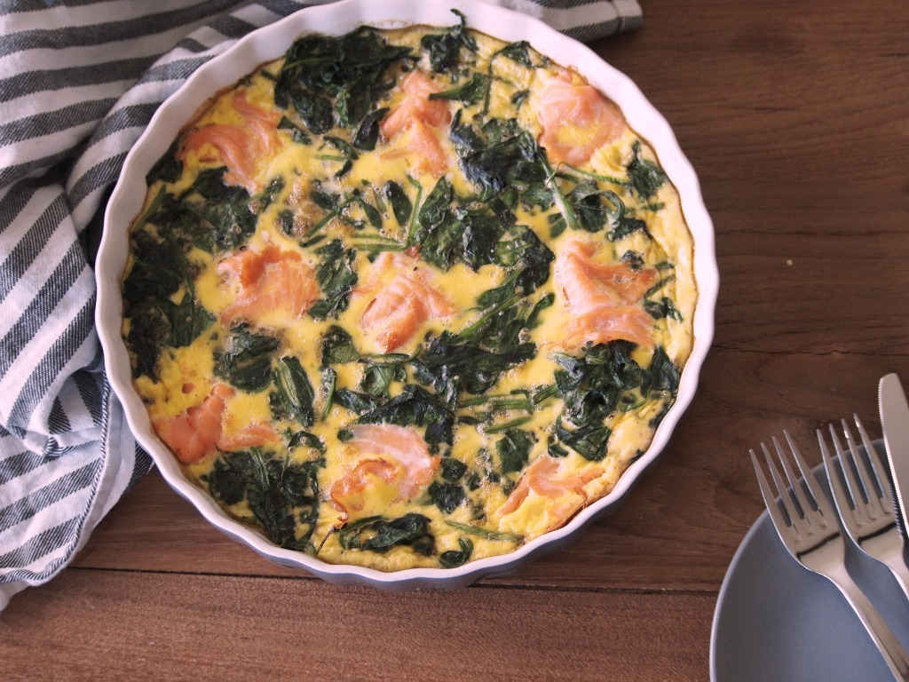 recept Spinazie Zalm frittata
