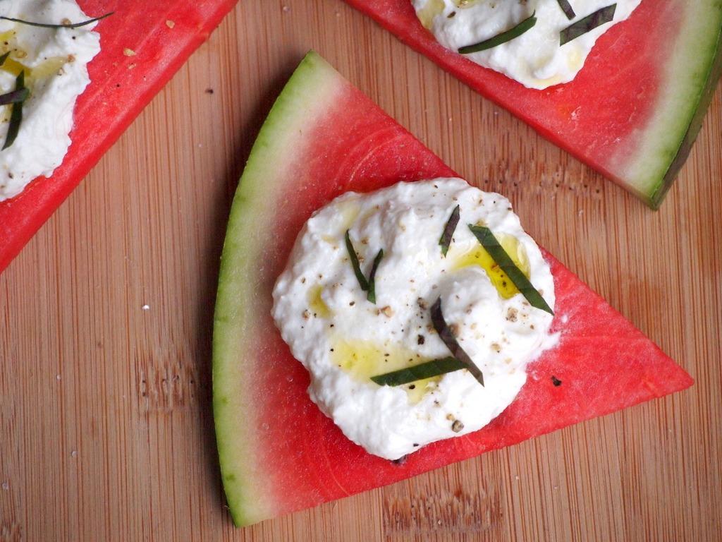 Recept watermeloen ricotta hapjes