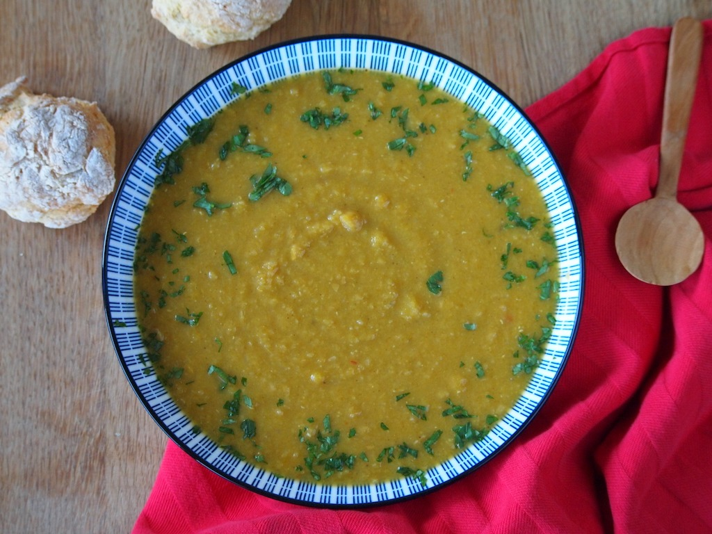 Pompoen Linzen maaltijd soep