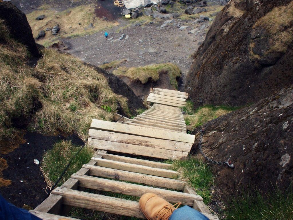 Rare enge hoge trap op vestmannaeyjar ijsland